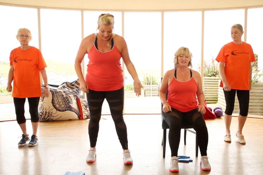 training seated exercise