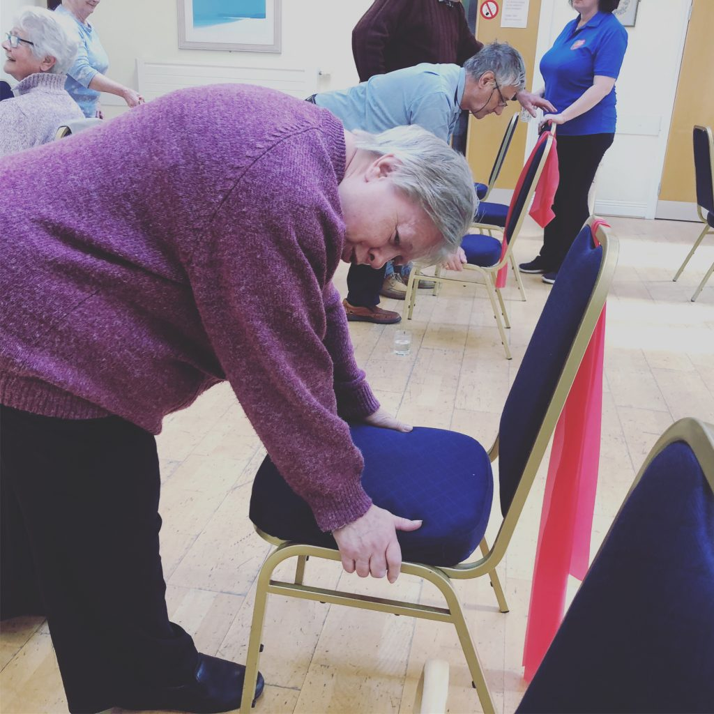 Active Seniors exercise class wrist bone loading